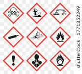 ghs pictogram hazard sign set.... | Shutterstock .eps vector #1771352249