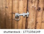 Metal Latch On A Wooden Fence...