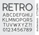 abstract vintage retro font and ... | Shutterstock .eps vector #177136994