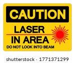 caution laser in area do not...   Shutterstock .eps vector #1771371299
