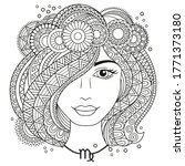 vector coloring book for adults.... | Shutterstock .eps vector #1771373180