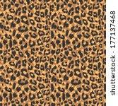 seamless leopard fur pattern | Shutterstock .eps vector #177137468