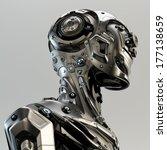 Stylish Cyborg Man   Steel...