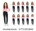 young woman with long hair in... | Shutterstock .eps vector #1771391840