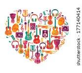 love music heart. musical... | Shutterstock .eps vector #177140414