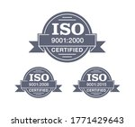 iso 9001 certified stamp in 3... | Shutterstock .eps vector #1771429643