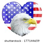 eagle america love heart... | Shutterstock . vector #177144659