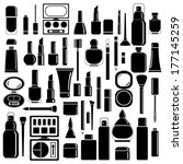 makeup cosmetic silhouettes ... | Shutterstock .eps vector #177145259