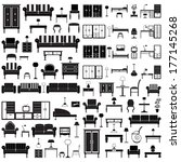 home furniture icons set ... | Shutterstock .eps vector #177145268