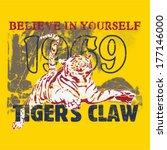 tiger themed t shirt printing...   Shutterstock .eps vector #177146000