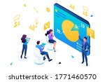 isometric business coach trains ... | Shutterstock .eps vector #1771460570