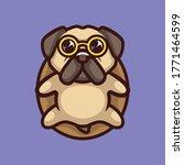 cute pug dog cartoon logo...   Shutterstock .eps vector #1771464599