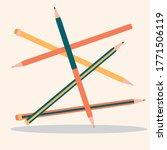 flat design pencils. sign of... | Shutterstock .eps vector #1771506119