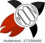 rocket shipt moon editable logo ... | Shutterstock .eps vector #1771506650