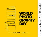 world photography day with... | Shutterstock .eps vector #1771506983