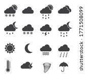weather icons set in flat style ... | Shutterstock .eps vector #1771508099