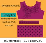 salwar kameez artwork for ready ... | Shutterstock .eps vector #1771509260