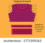 salwar kameez artwork for ready ... | Shutterstock .eps vector #1771509263