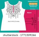 salwar kameez artwork for ready ... | Shutterstock .eps vector #1771509266