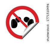 no headphones  vector. not... | Shutterstock .eps vector #1771510496