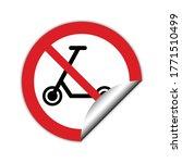no kick scooter icon. no kick... | Shutterstock .eps vector #1771510499