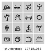 tourism set icons | Shutterstock .eps vector #177151058
