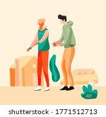 rent house  real estate agency  | Shutterstock .eps vector #1771512713