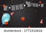 birthday background design with ... | Shutterstock .eps vector #1771513616