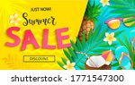 Bright Sale Banner For Summer...