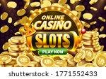 play now slots golden coins ... | Shutterstock .eps vector #1771552433