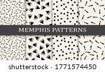 memphis style geometric...   Shutterstock .eps vector #1771574450