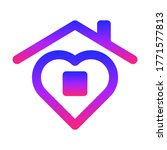 icon stay home. sign of the... | Shutterstock . vector #1771577813