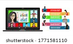 video call conference concept.... | Shutterstock .eps vector #1771581110