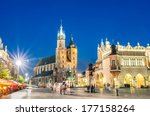 rynek glowny   the main square... | Shutterstock . vector #177158264
