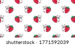 dog seamless pattern french... | Shutterstock .eps vector #1771592039