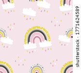 vector seamless pattern with... | Shutterstock .eps vector #1771624589