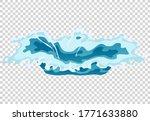 vector frame water splash for...