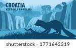 vector panorama of croatia with ... | Shutterstock .eps vector #1771642319