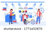parent choose bicycle to buy... | Shutterstock .eps vector #1771652870
