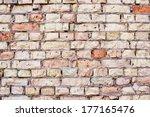 grunge brick texture wallpaper    Shutterstock . vector #177165476