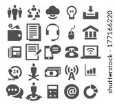 business and finance icon set | Shutterstock .eps vector #177166220