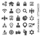 business and finance icon set | Shutterstock .eps vector #177166223