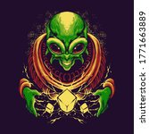 scary alien superpower... | Shutterstock .eps vector #1771663889