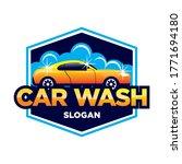 car wash logo  car wash and... | Shutterstock .eps vector #1771694180