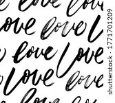 seamless pattern with love... | Shutterstock .eps vector #1771701209