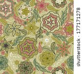 abstract flower background... | Shutterstock . vector #177171278