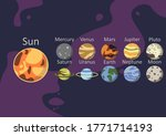 planets of the solar system | Shutterstock .eps vector #1771714193