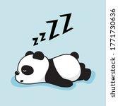Lazy Panda Cartoon Cute...