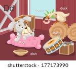 Alphabet.d Letter.dog Donut...