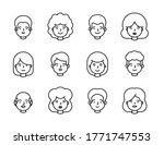 people portrait line outline... | Shutterstock .eps vector #1771747553